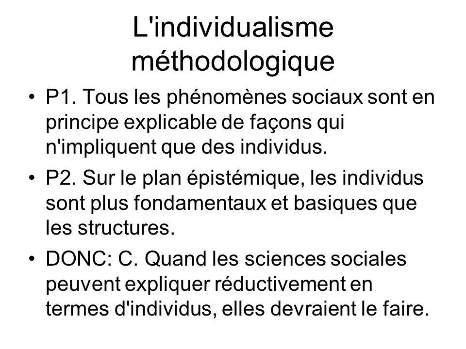 L individualisme méthodologique