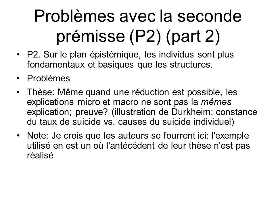 Problèmes avec la seconde prémisse (P2) (part 2)