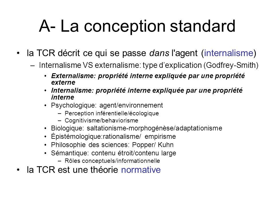 A- La conception standard