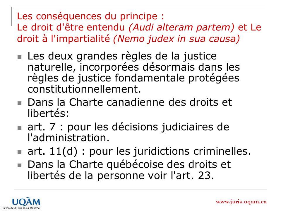 Dans la Charte canadienne des droits et libertés: