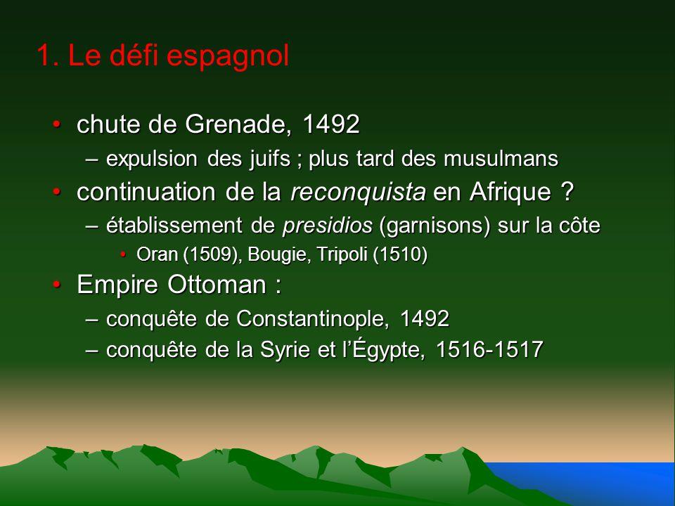 1. Le défi espagnol chute de Grenade, 1492