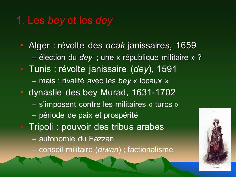 1. Les bey et les dey Alger : révolte des ocak janissaires, 1659