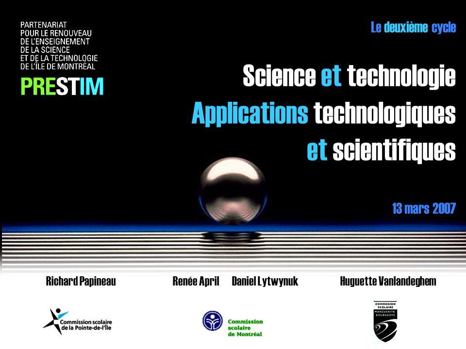 Science et technologie Applications technologiques et scientifiques