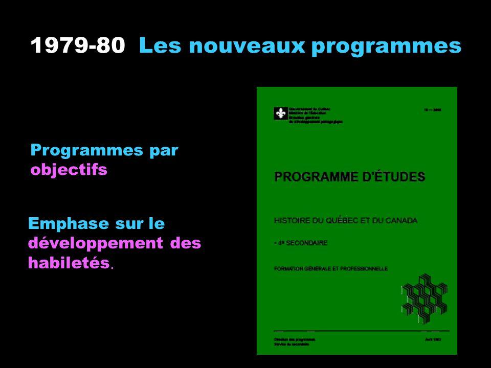 1979-80 Les nouveaux programmes
