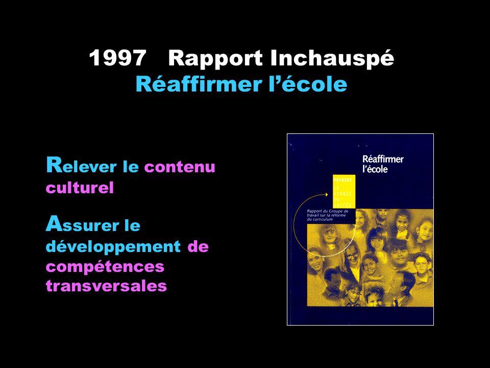 1997 Rapport Inchauspé Réaffirmer l'école