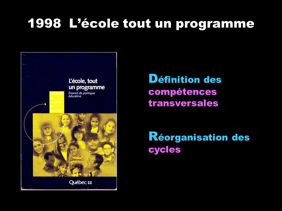1998 L'école tout un programme