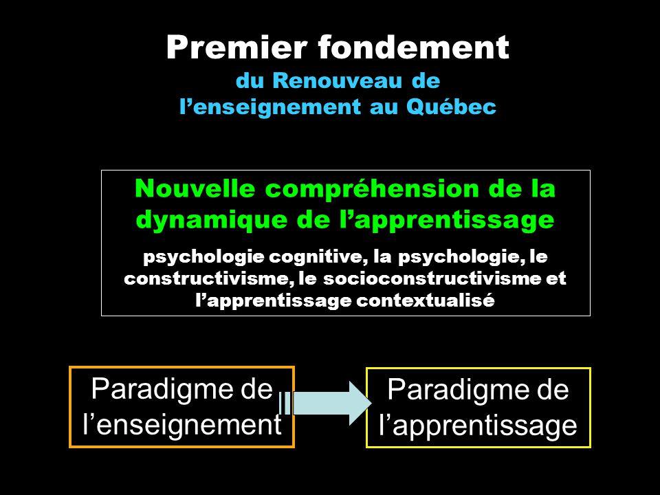 Premier fondement du Renouveau de l'enseignement au Québec
