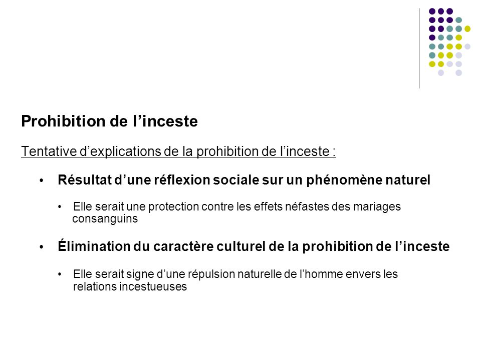 Prohibition de l'inceste