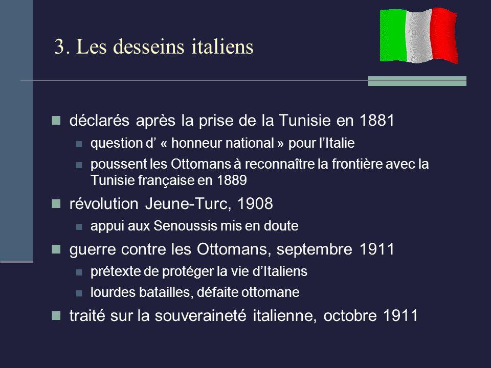 3. Les desseins italiens déclarés après la prise de la Tunisie en 1881