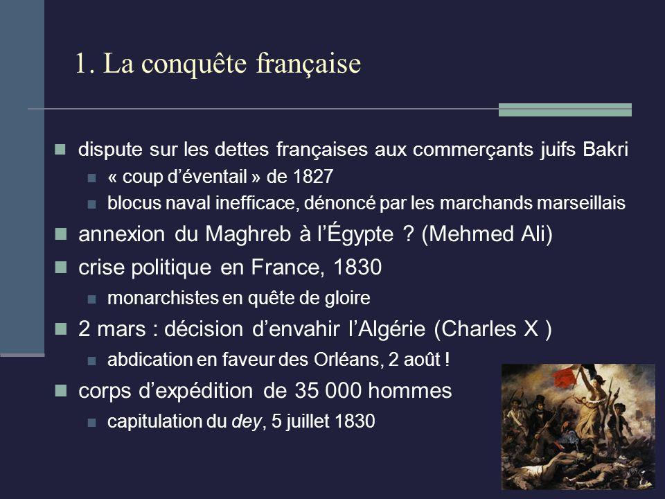 1. La conquête française annexion du Maghreb à l'Égypte (Mehmed Ali)