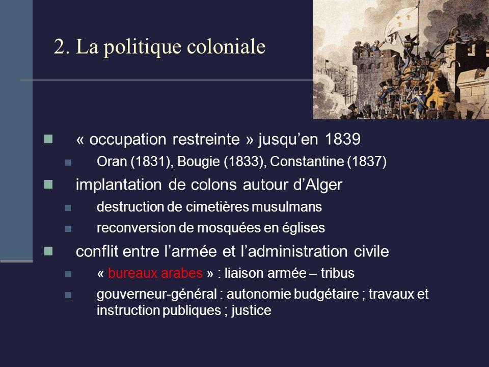 2. La politique coloniale