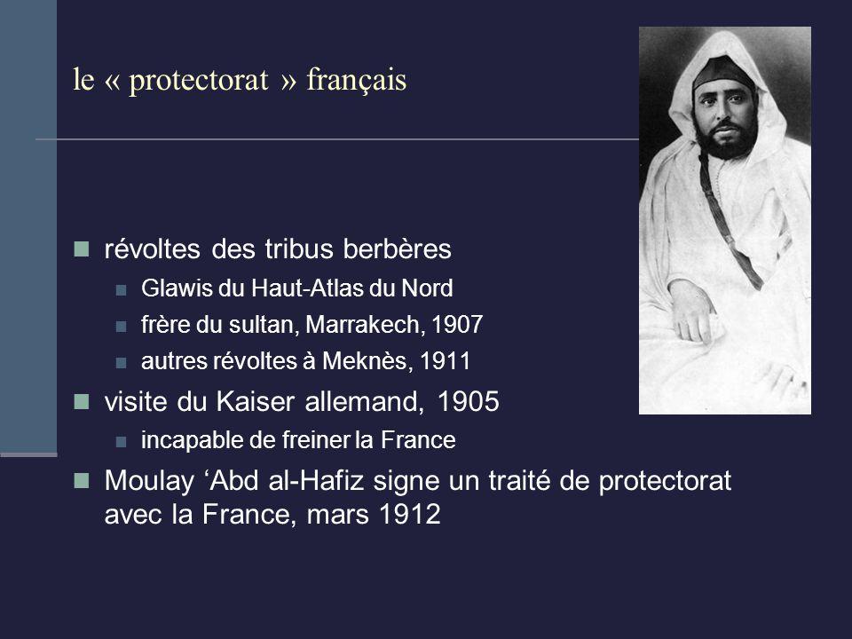 le « protectorat » français