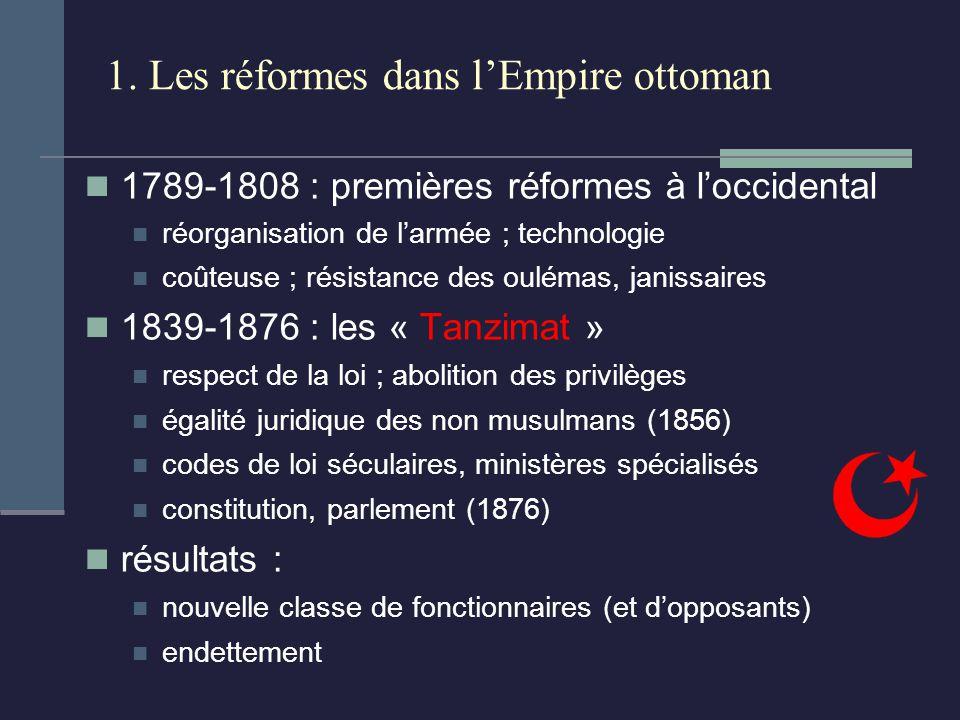 1. Les réformes dans l'Empire ottoman