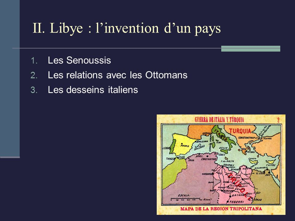 II. Libye : l'invention d'un pays