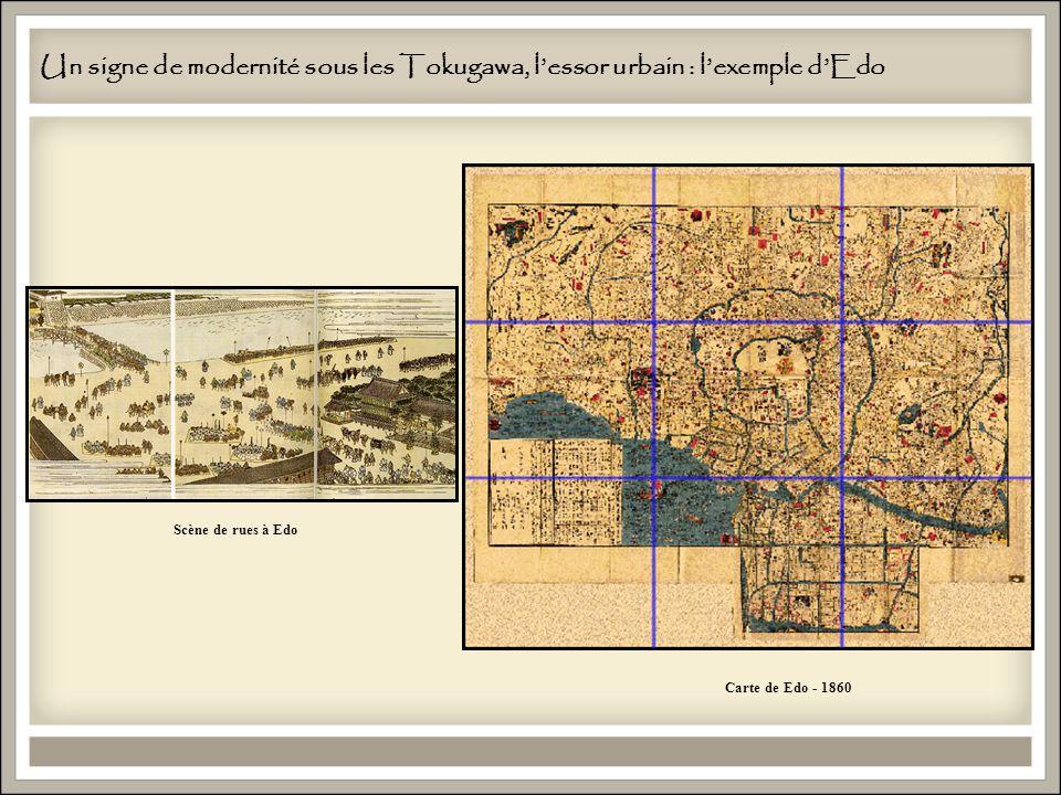 Un signe de modernité sous les Tokugawa, l'essor urbain : l'exemple d'Edo