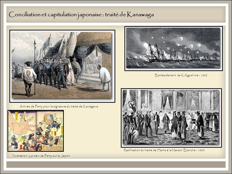 Conciliation et capitulation japonaise : traité de Kanawaga