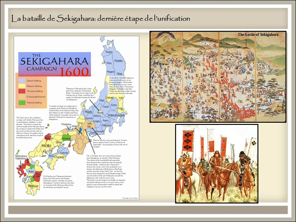 La bataille de Sekigahara: dernière étape de l'unification