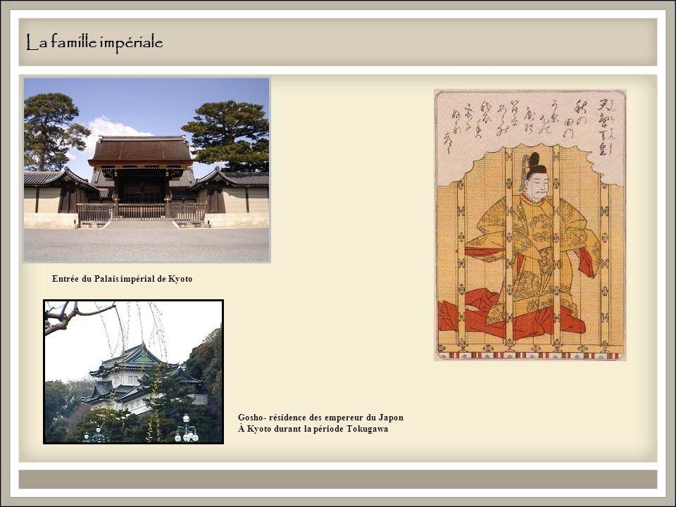 La famille impériale Entrée du Palais impérial de Kyoto