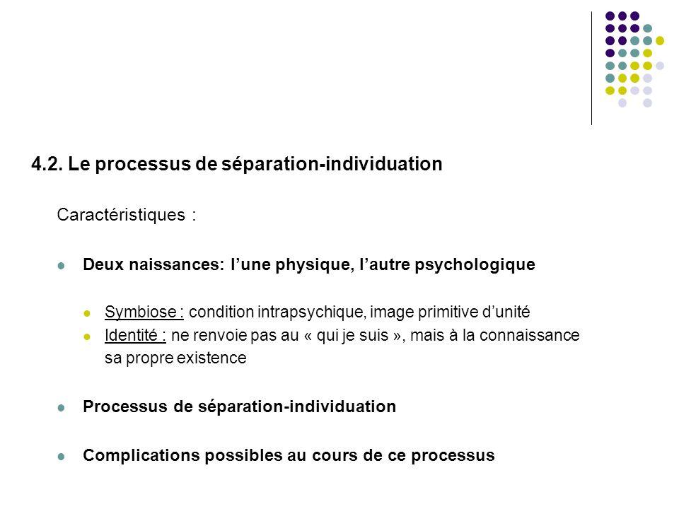 4.2. Le processus de séparation-individuation