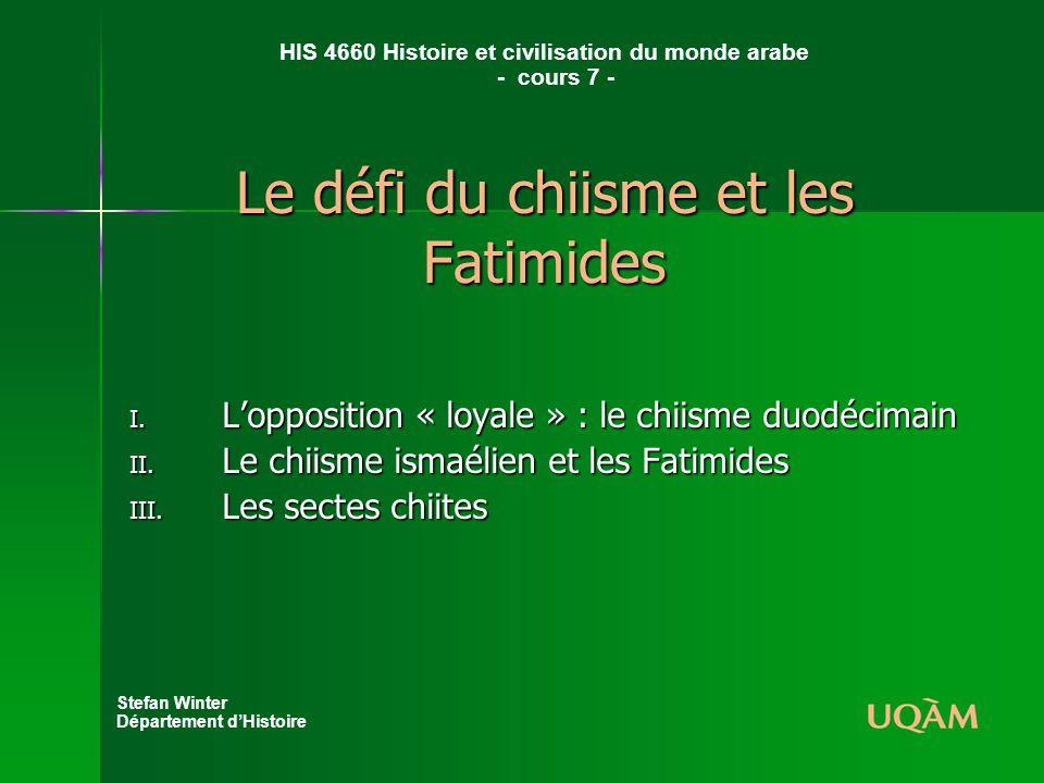 Le défi du chiisme et les Fatimides