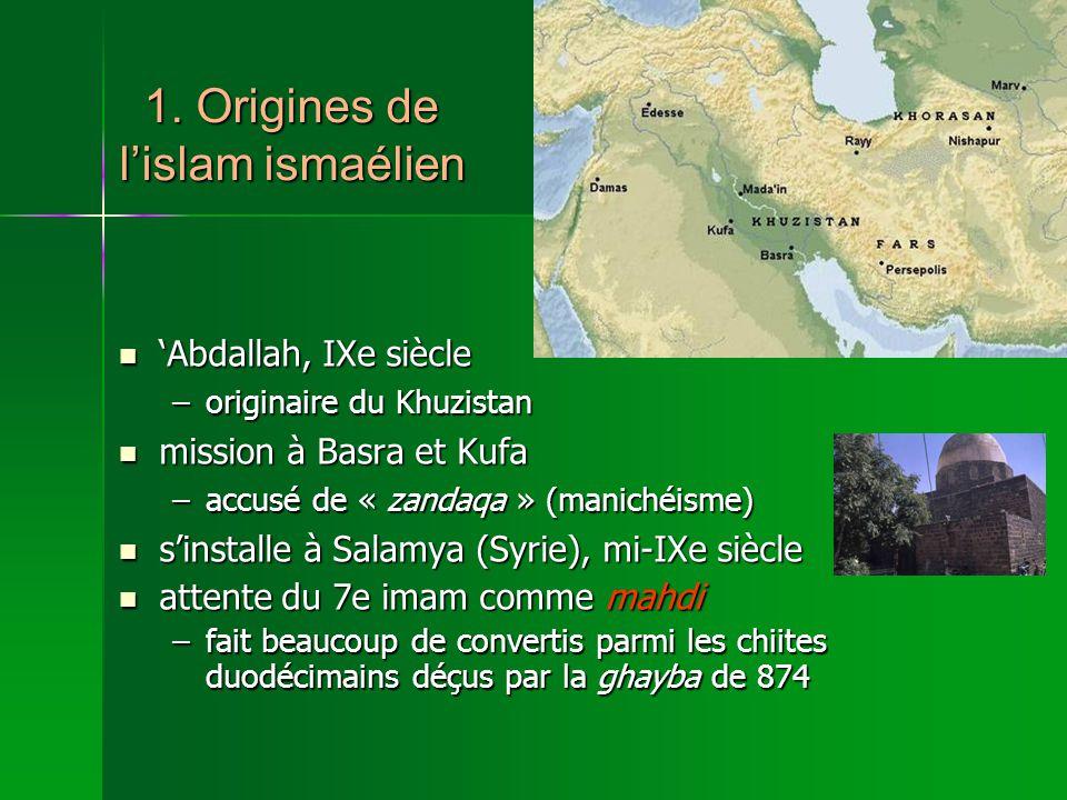 1. Origines de l'islam ismaélien