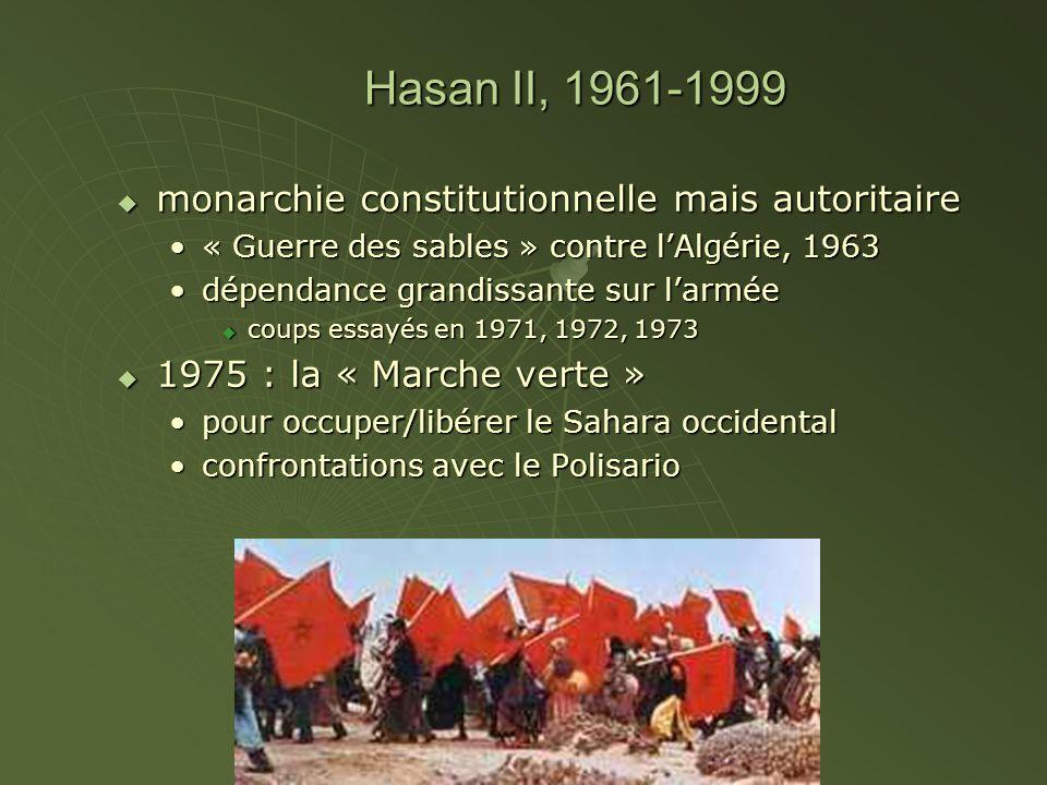 Hasan II, 1961-1999 monarchie constitutionnelle mais autoritaire