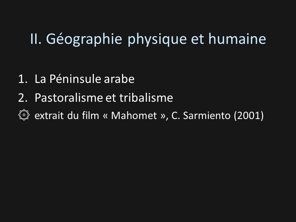 II. Géographie physique et humaine