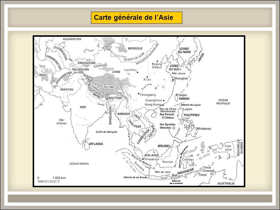 Carte générale de l'Asie