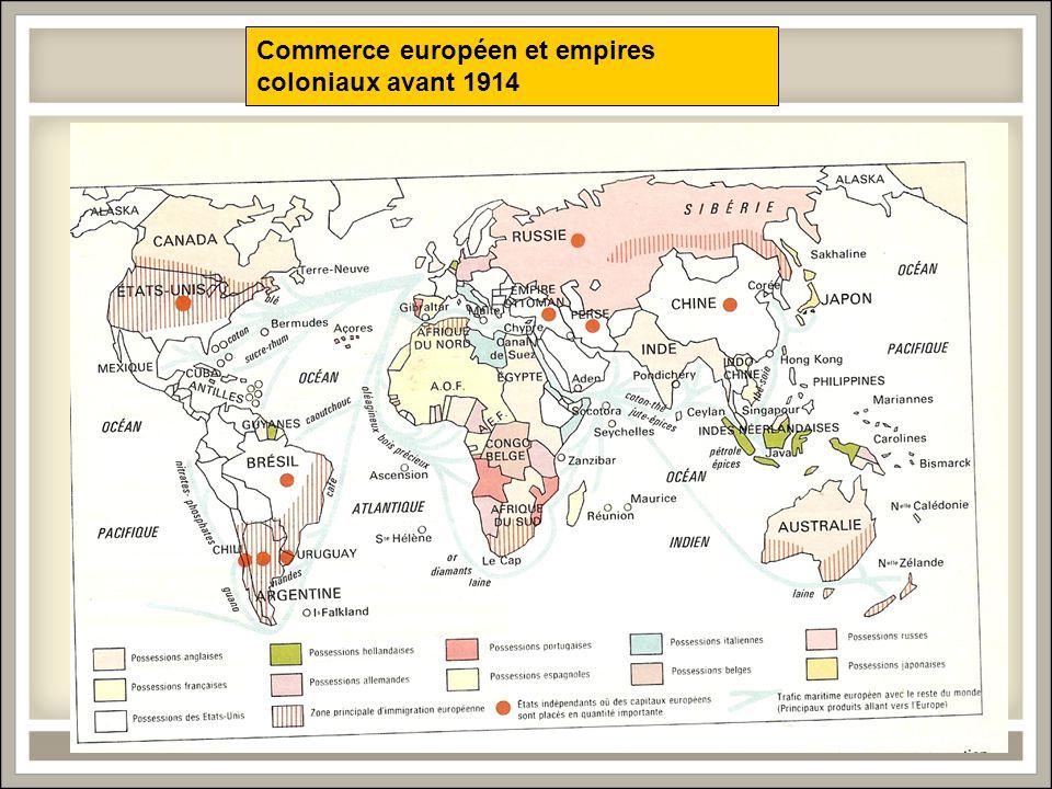 Commerce européen et empires coloniaux avant 1914