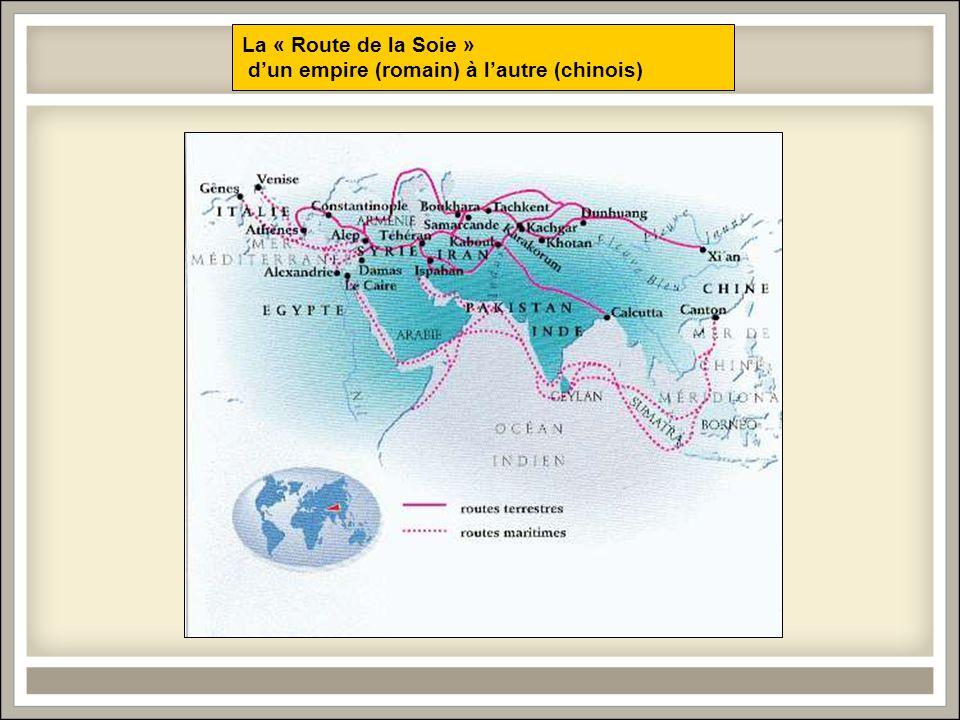 La « Route de la Soie » d'un empire (romain) à l'autre (chinois)