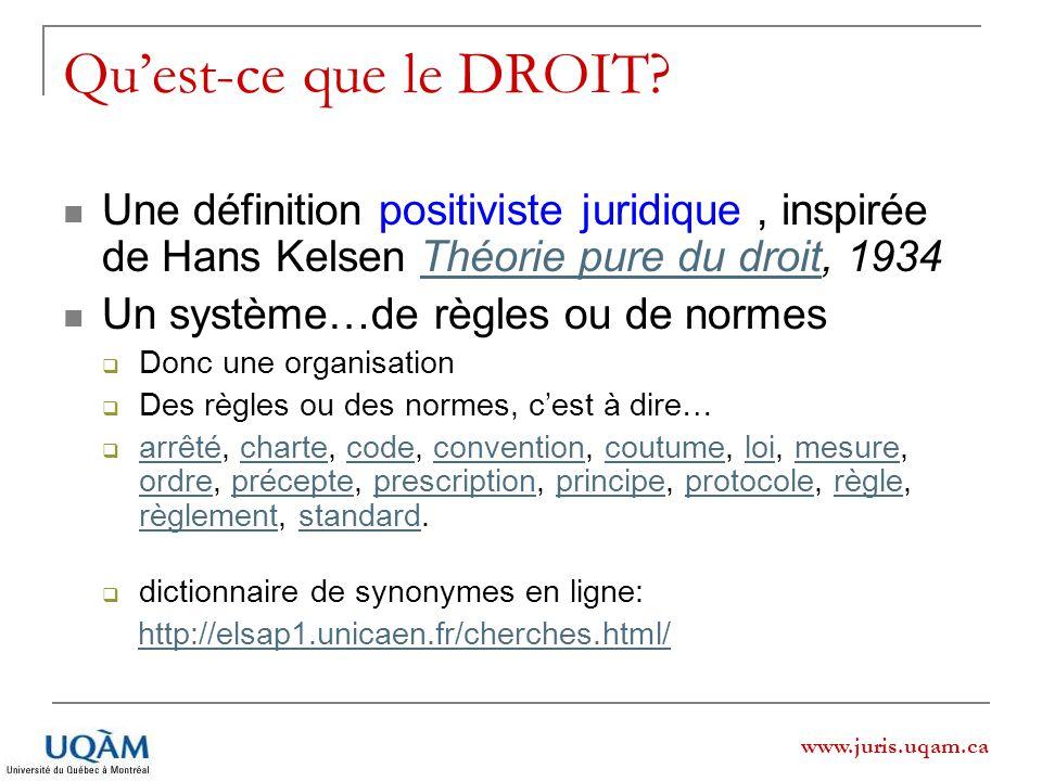 Qu'est-ce que le DROIT Une définition positiviste juridique , inspirée de Hans Kelsen Théorie pure du droit, 1934.