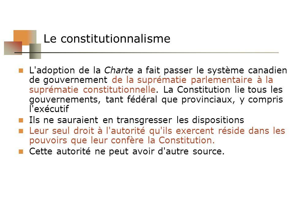 Le constitutionnalisme