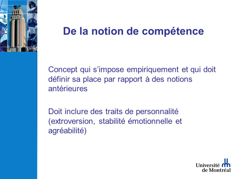 De la notion de compétence
