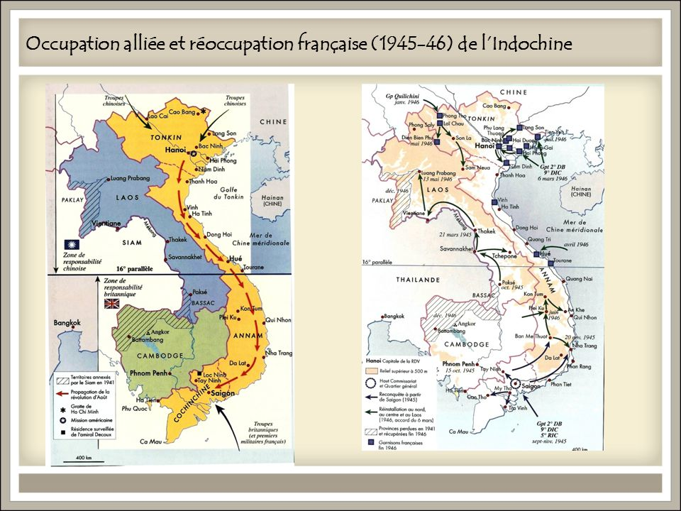 Occupation alliée et réoccupation française (1945-46) de l'Indochine
