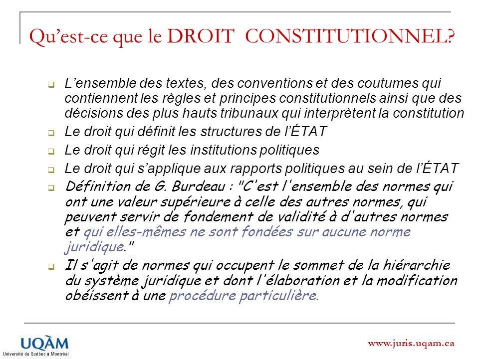 Qu'est-ce que le DROIT CONSTITUTIONNEL