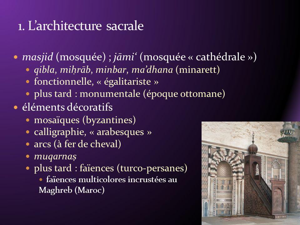 1. L'architecture sacrale