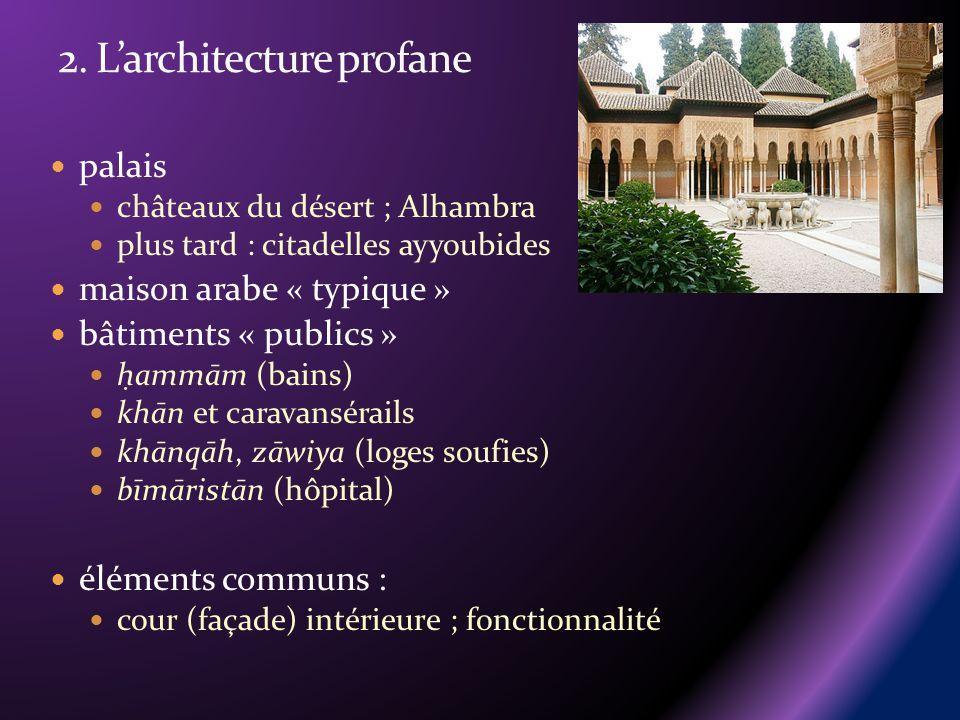 2. L'architecture profane