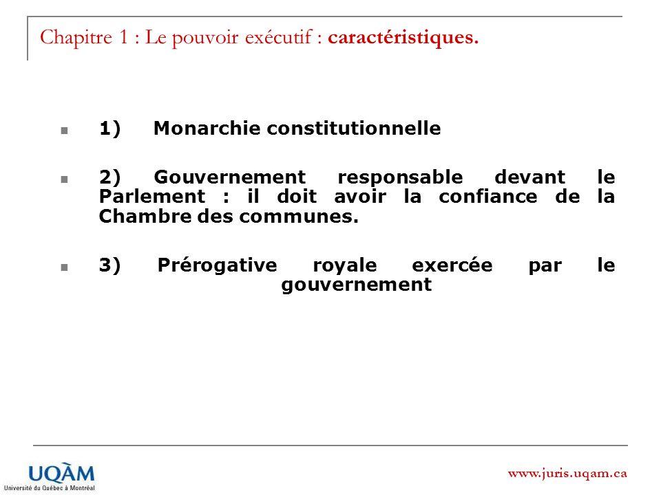Chapitre 1 : Le pouvoir exécutif : caractéristiques.
