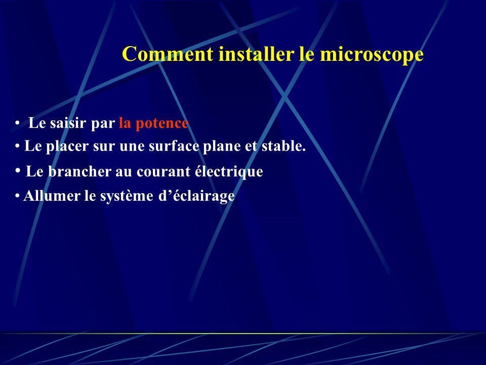 Comment installer le microscope
