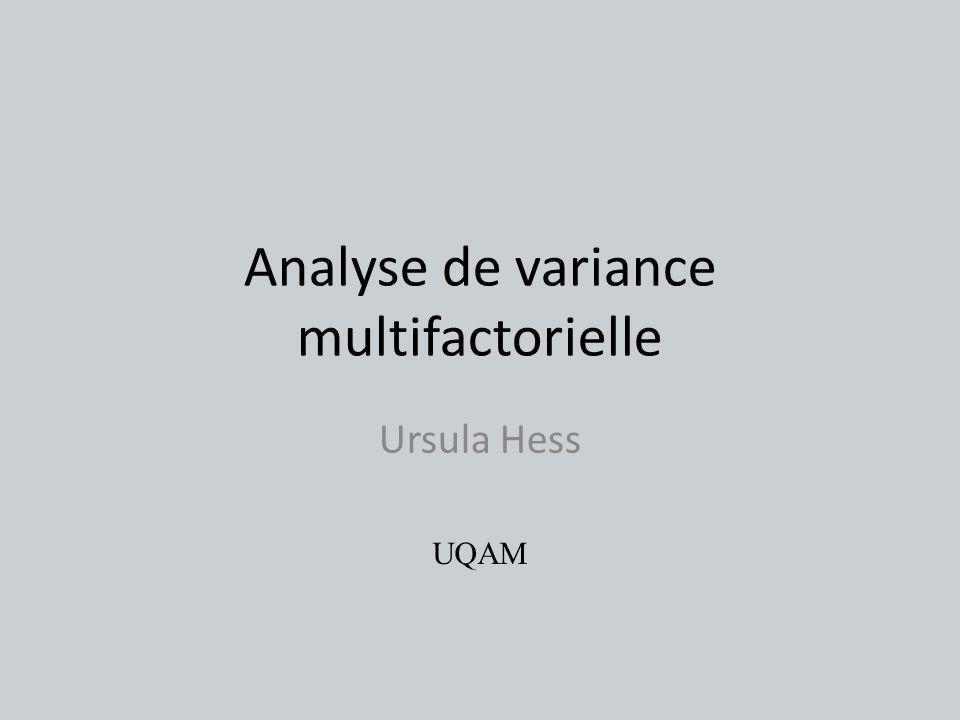 Analyse de variance multifactorielle