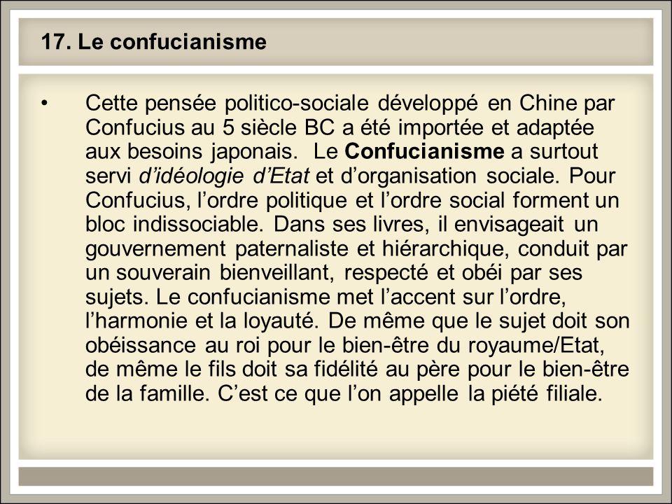 17. Le confucianisme