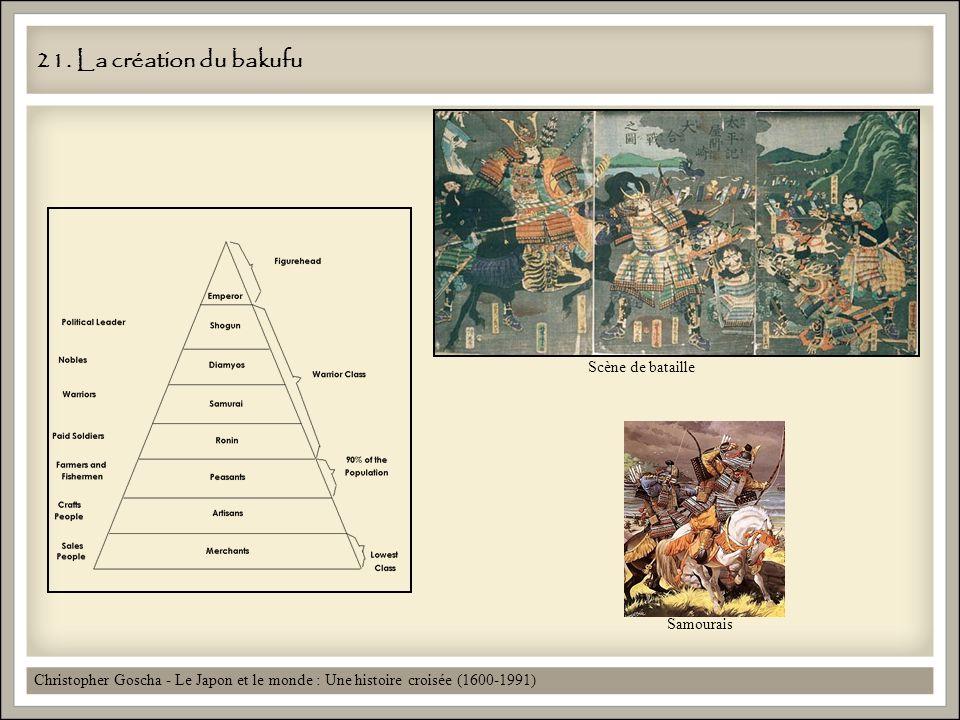 21. La création du bakufu Scène de bataille Samourais
