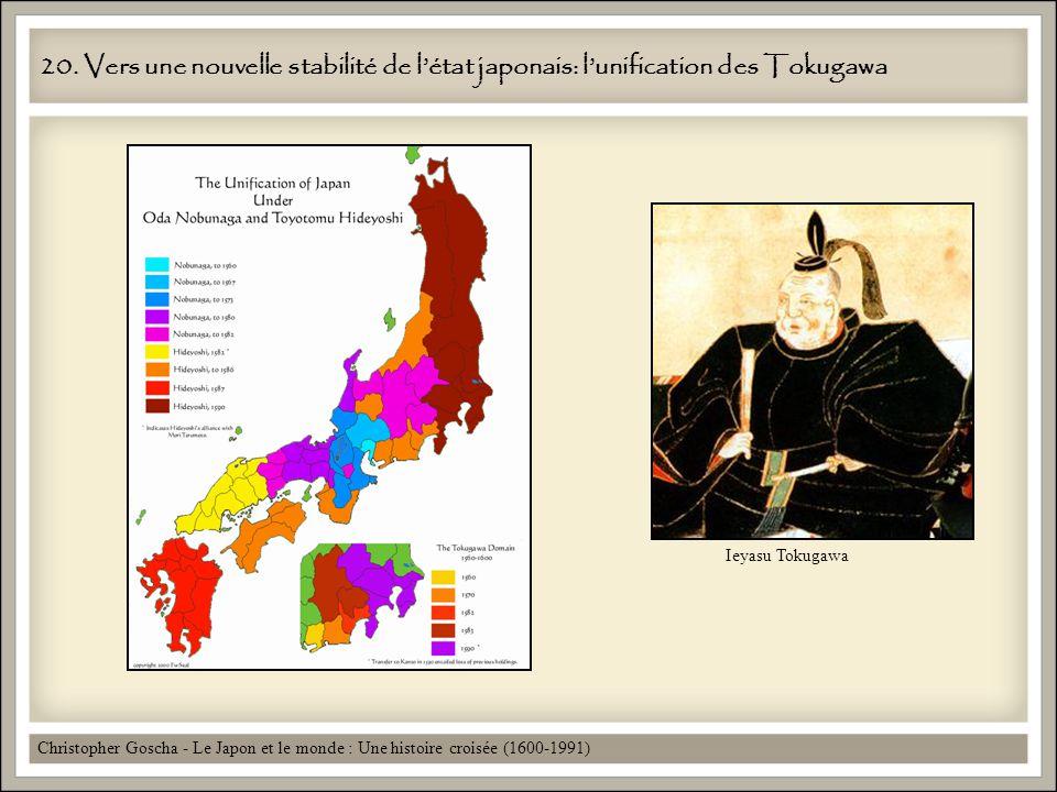 20. Vers une nouvelle stabilité de l'état japonais: l'unification des Tokugawa