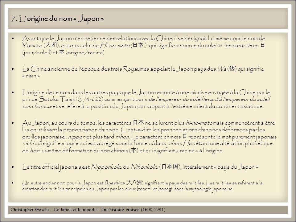 7. L'origine du nom « Japon »