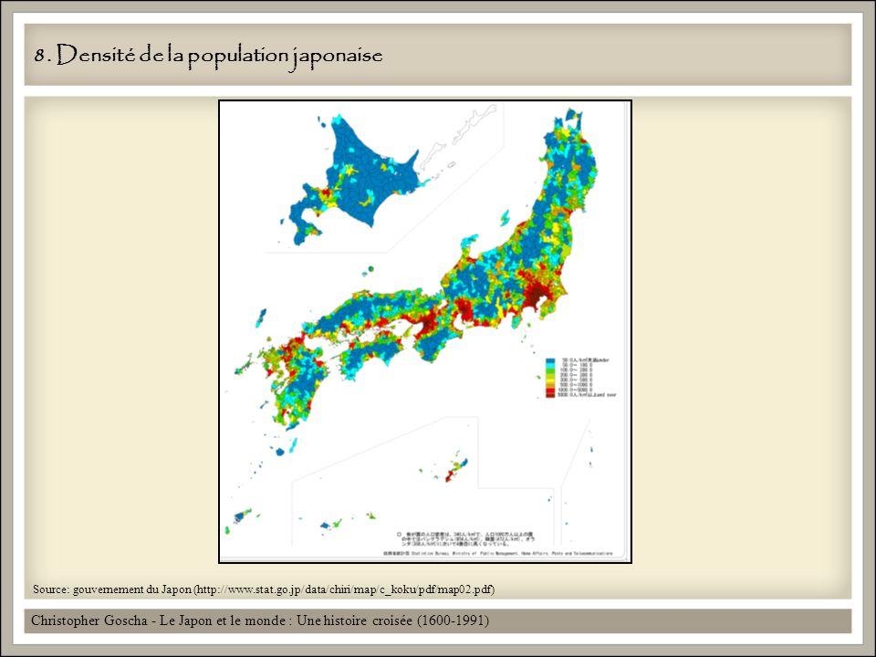 8. Densité de la population japonaise