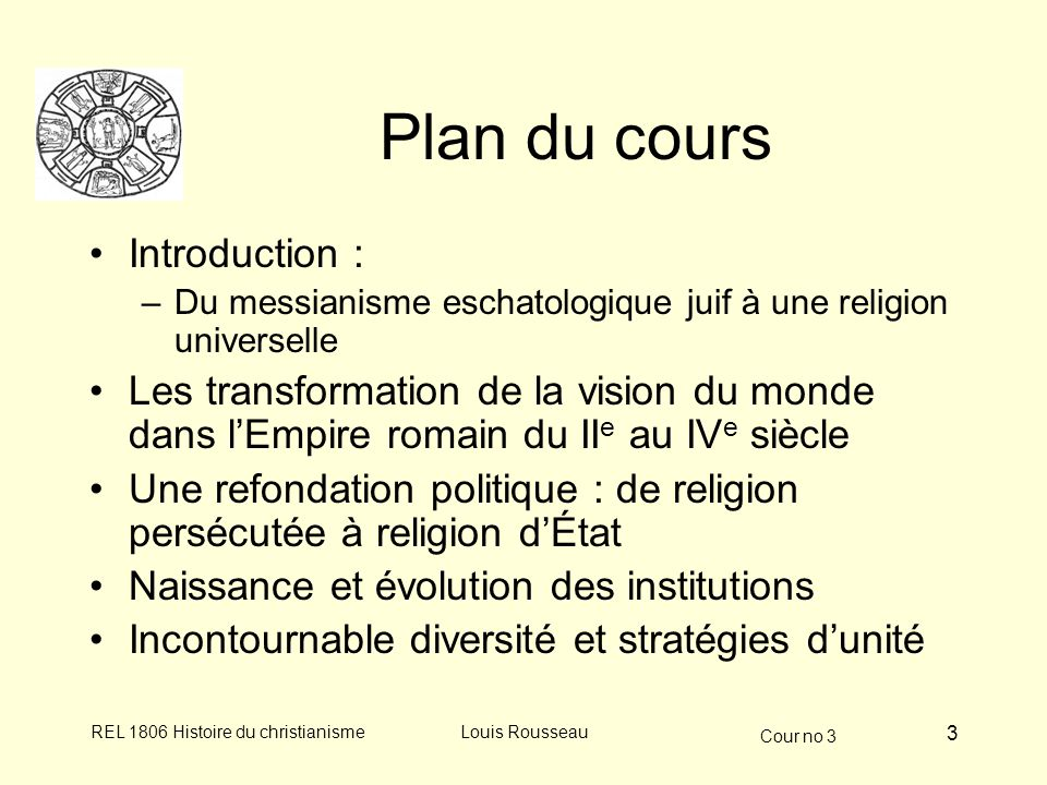 Plan du cours Introduction :