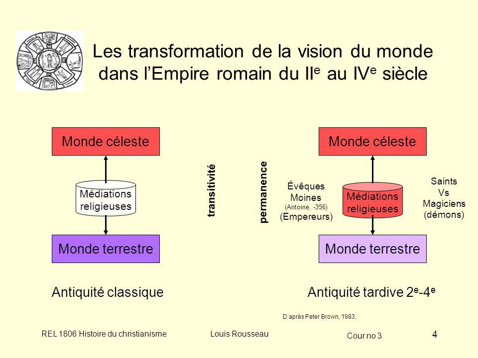 Les transformation de la vision du monde dans l'Empire romain du IIe au IVe siècle