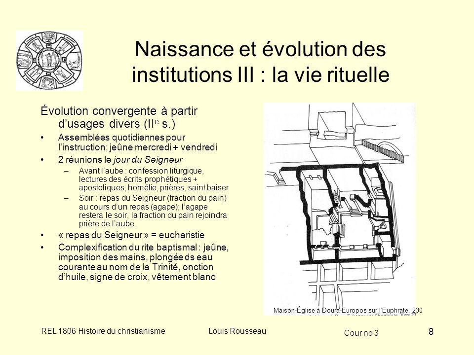 Naissance et évolution des institutions III : la vie rituelle