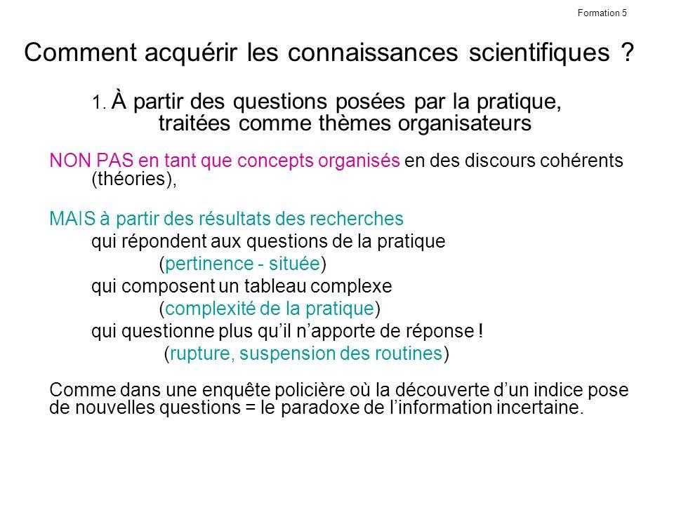 Comment acquérir les connaissances scientifiques