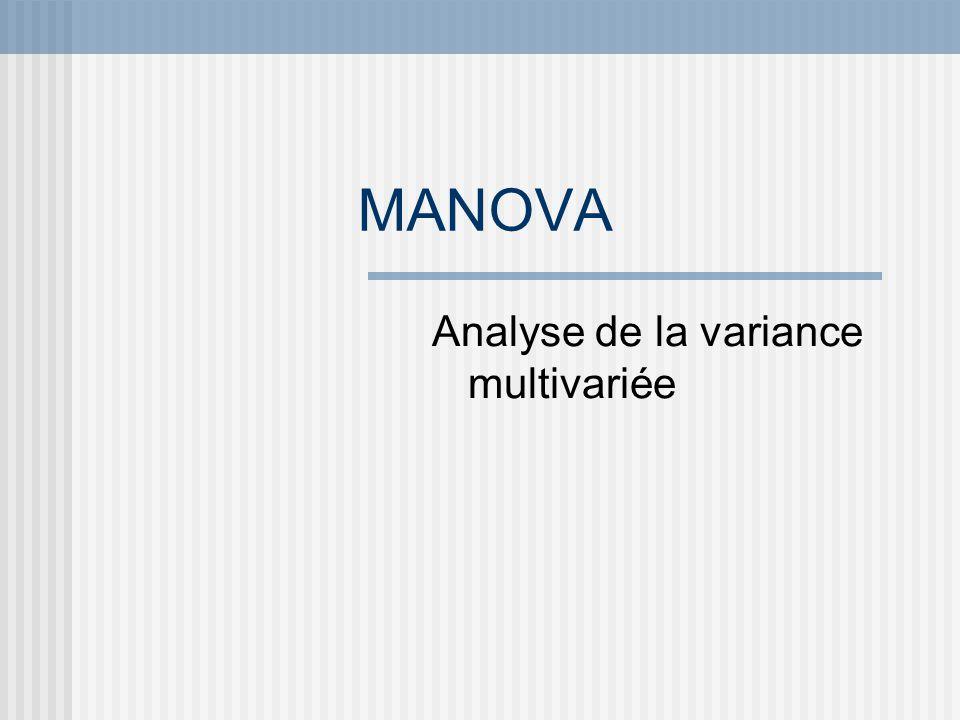 Analyse de la variance multivariée